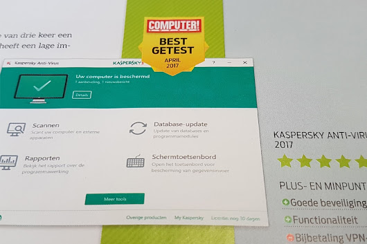 Kaspersky Anti Virus als beste getest door Computer Totaal! - Milcraft | Webdesign, SEO, Social Media & Hosting