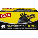 Glad Quick-Tie Bags, Large Trash - 50 bags