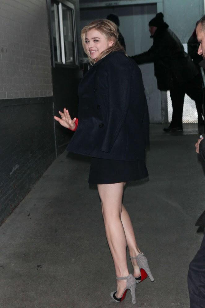 Chloe Moretz Leggy in Short Dress -21