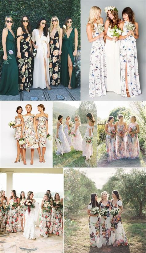 25  best ideas about Floral bridesmaid dresses on