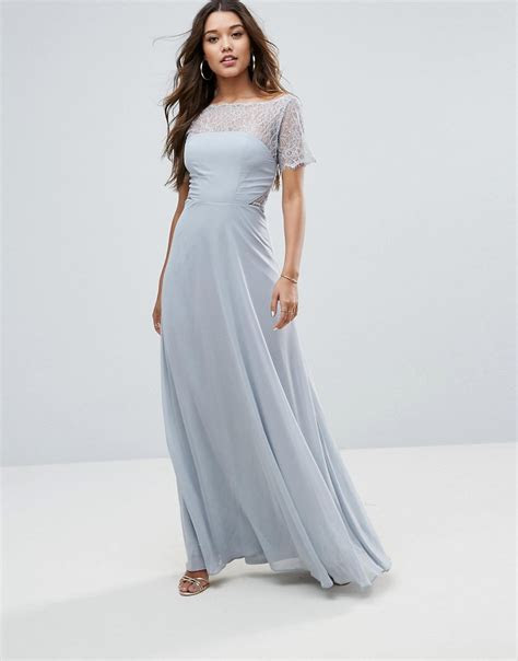ASOS Lace Insert Panelled Maxi Dress   Dresslover UK