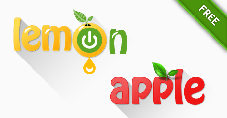 Free Apple and Lemon Logo Templates - Free PSD Files