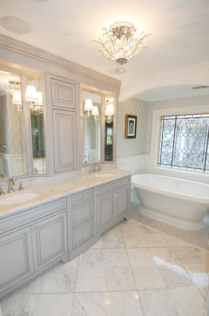Traditional Gray Master Bath