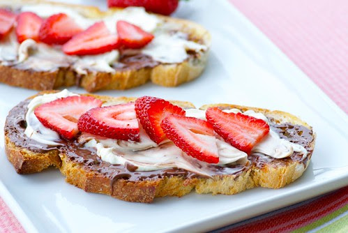 Mascarpone, Nutella, and Fresh Berry Toasts