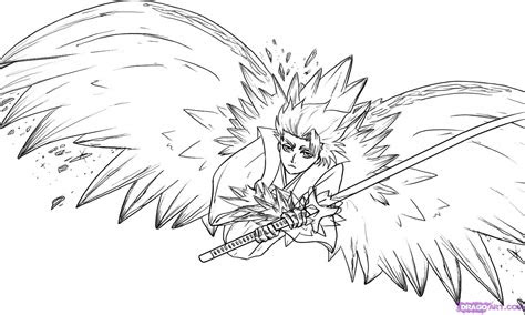draw toshiro hitsugaya step  step bleach
