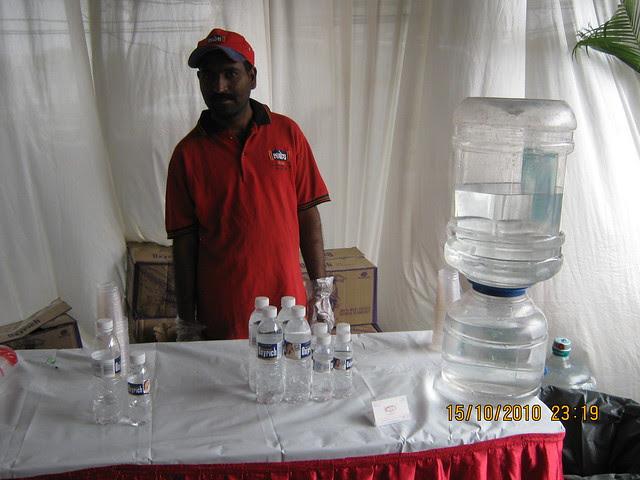 Mineral water for the property buyers at Vastushodh's UrbanGram at Kondhawe Dhawade near Warje in Pune