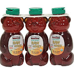 Kirkland Signature Honey Bears, Raw Organic - 3 pack, 24 fl oz bottles