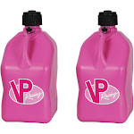 VP Racing 5 Gallon Motorsport Racing Liquid Utility Jug Can, Pink (2 Pack)