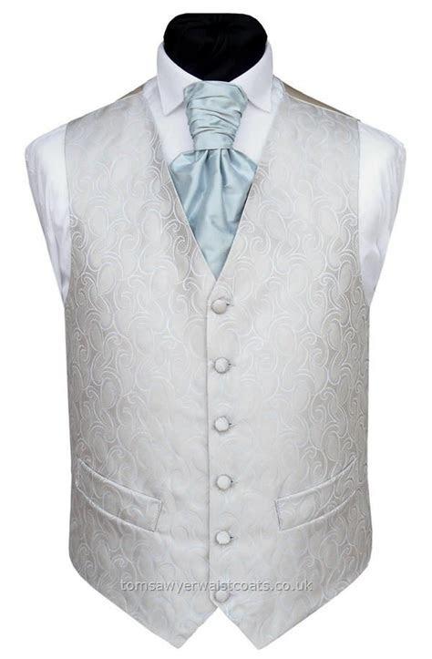POWDER BLUE And Oyster Waistcoat   Wedding Waistcoats Mens