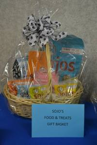 One of our distributors donated a Sojos food & treats basket!