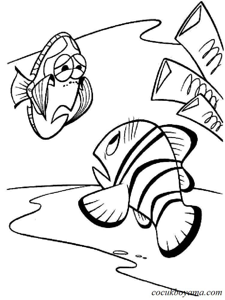 Kayıp Balık Nemo ücretsiz Boyama Resimleri