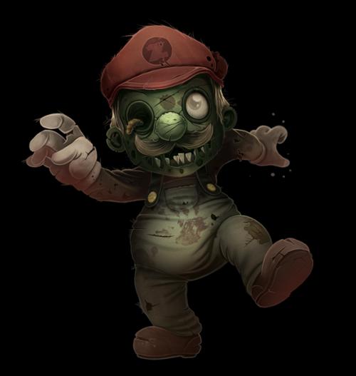 Zombie Mario by Antonio Komiyama