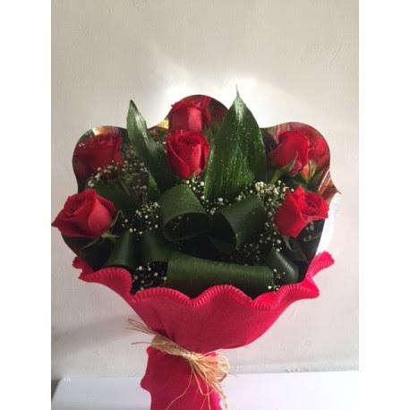 Ramo De 6 Rosas Rojas Floristería Jauja Jaén