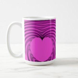 Emerging heart mugs