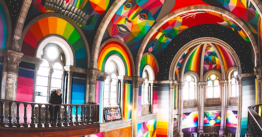 Abandoned 100-Year-Old Church Transformed Into A Graffiti Themed Skate Park