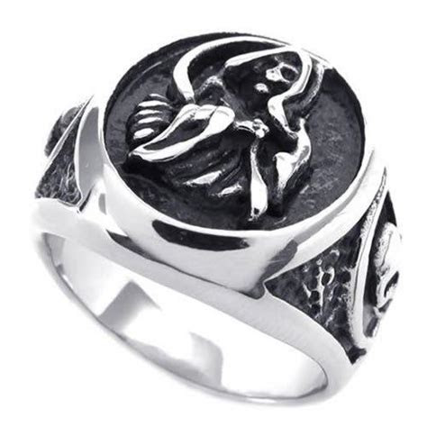 Fashion Jewelry Vintage Stainless Steel Casted Grim Reaper