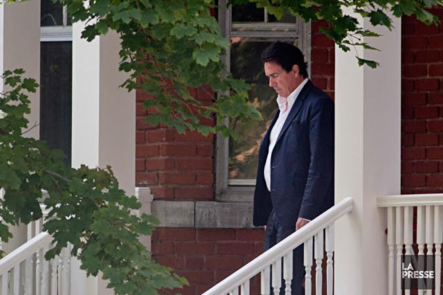 Pierre Karl Péladeau s'est rendu au domicile de... (Photo David Boily, La Presse)