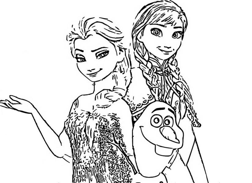 Dibujo Para Colorear Frozen 2 Anna Y Elsa 3