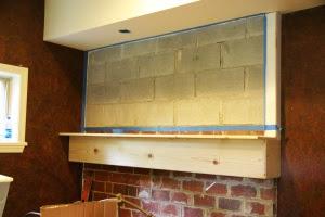 HGTV brick wall before pr