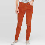 Women's Corduroy Mid-Rise Skinny Jeans - Universal Thread Rust