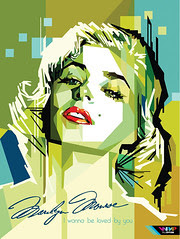 marylin monroe in WPAP (Wedha's Pop Art Portra...