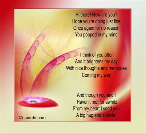 A Thought And A Smile. Free Hi eCards, Greeting Cards
