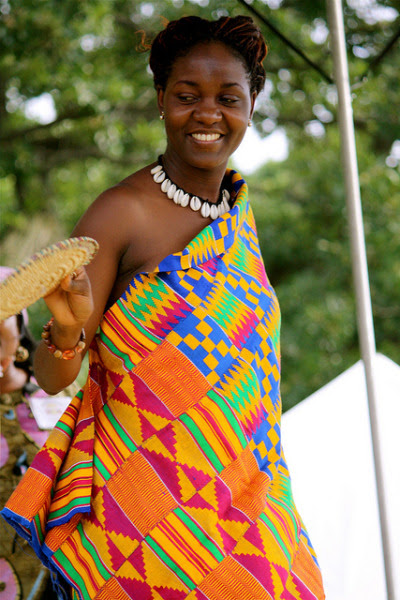 Woman In Kente