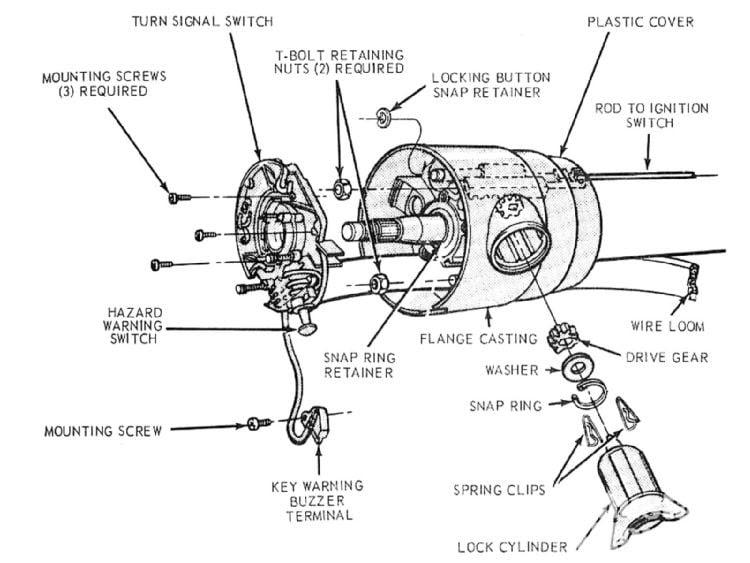 1972 Chevy Truck Steering Column Diagram