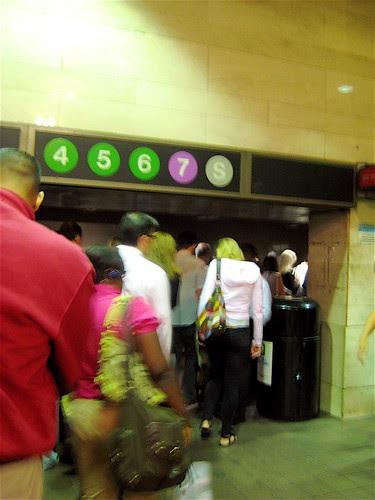 Rush Hour Commuters - New York Subway