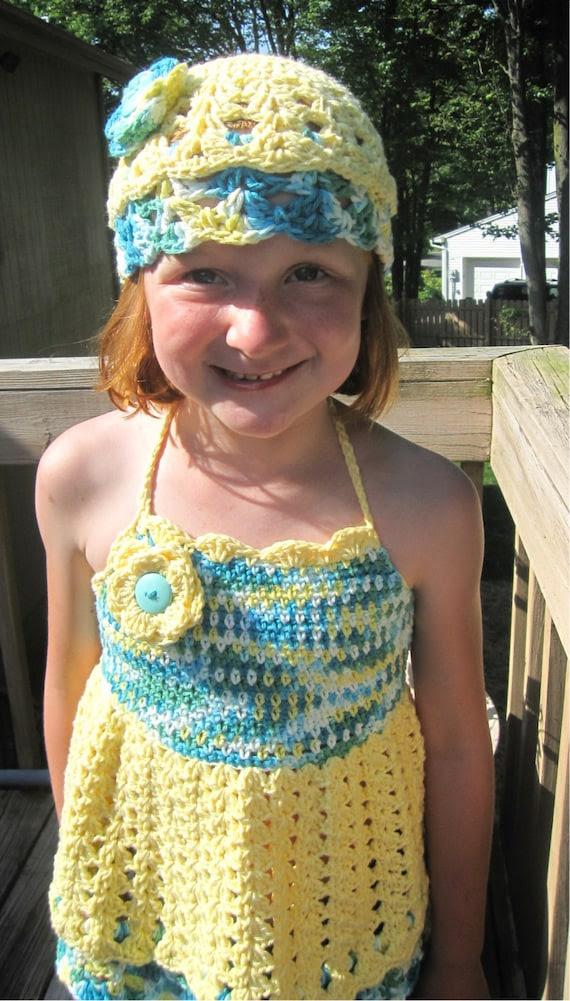 Girls Summer Yellow Halter TopSz 6 - 8