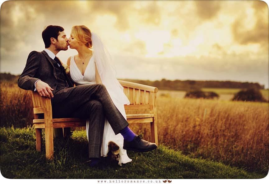 Sunset Field Wedding Photography Suffolk - Hello Romance