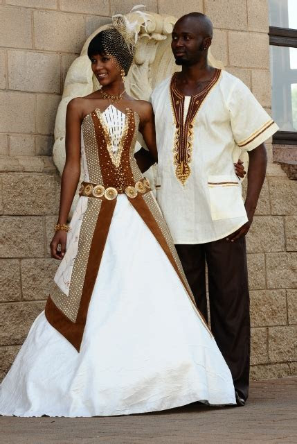 Mix of Traditional African & Anglo Wedding Dress