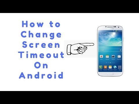 How to change screen timeout on android