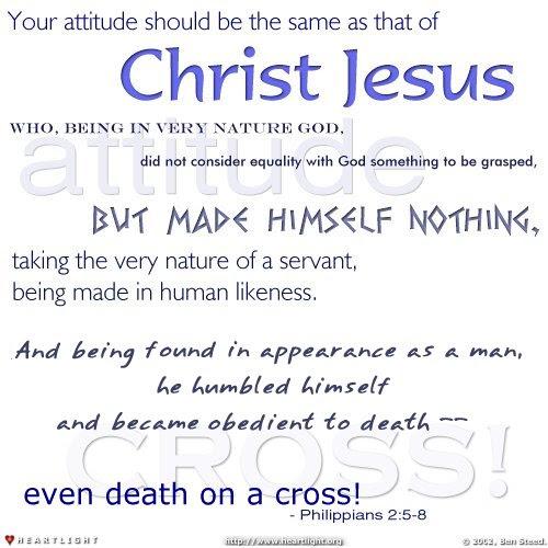 Inspirational illustration of Philippians 2:5-8