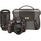 Nikon D7500 20.9 MP SLR - AF-P DX 18-55mm VR and 70-300mm VR Lenses