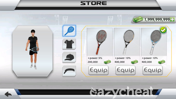 3D Tennis v1.7.0 Cheats