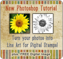 Photoshop Tutorial - turn photograph into line art for digital stamp image