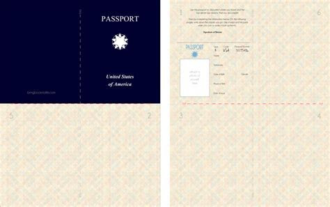 Free Kid's Printable Passport (Great for playing spies