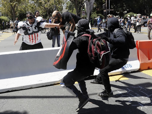 Antifa activists say violence is necessary - The Center News