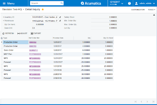 Acumatica Production Scheduling Software - Driving Production with a Forecasts and Master Production Schedules