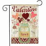 Lovely Hearts Valentine's Day Garden Flag