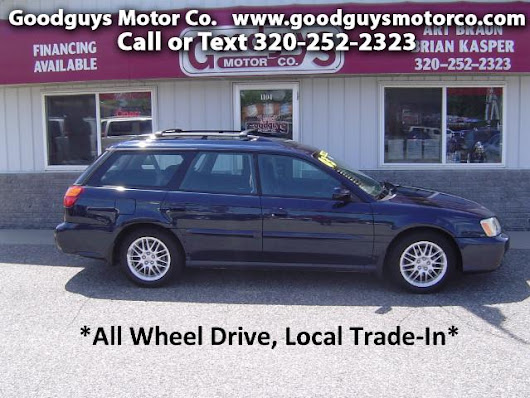 Used 2003 Subaru Legacy Wagon L for Sale in st cloud MN 56301 Goodguys Motor Co.