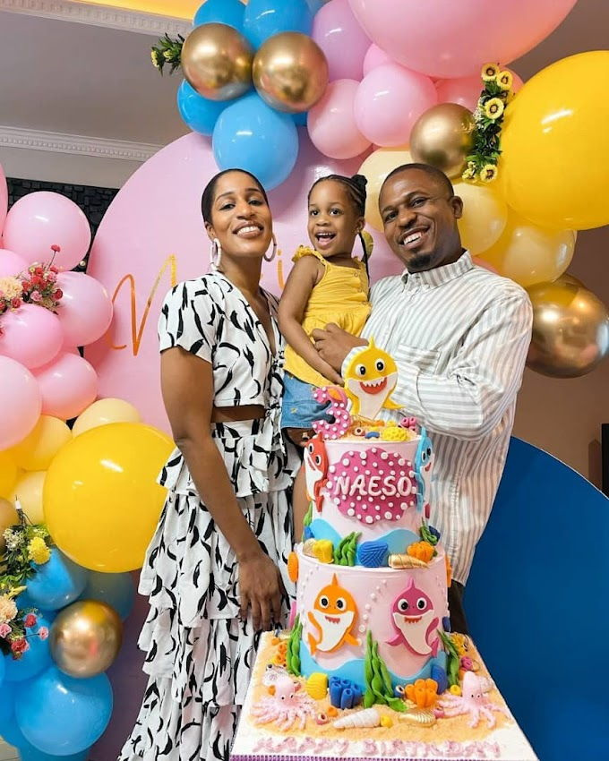 Rapper NaetoC and wife Nicole celebrate their daughter, Naesochukwu, as she turns three today October 25