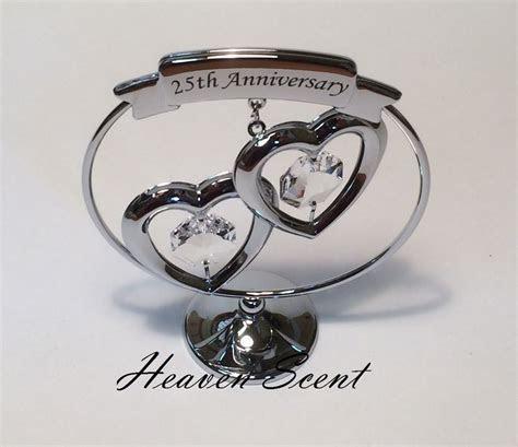 25th Silver Wedding Anniversary Gift Ideas with Swarovski