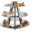 3 TIER DISPLAY STAND, HAMMERED STAINLESS STEEL - Buy 3 TIER DISPLAY STAND, HAMMERED STAINLESS STEEL Online Wholesale Restaurant, Foodservice & Catering Supplies