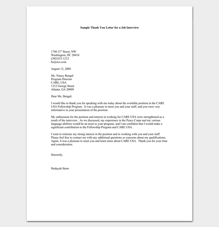Follow Up Letter Template 10 Formats Samples Examples