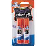 Elmer's 0.21 Oz. Clear Drying Washable School Glue Stick (2-Pack) E522