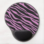 Orchid Pink Zebra Striped Gel Mouse Pad