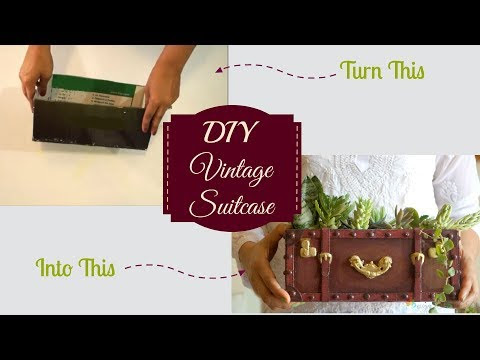 DIY Video Tutorial - Vintage Suitcase Made Out Of Cardboard Box