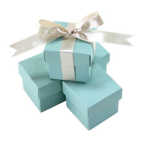 Aqua Blue Wedding Favour Box   Luxury Wedding Invitations